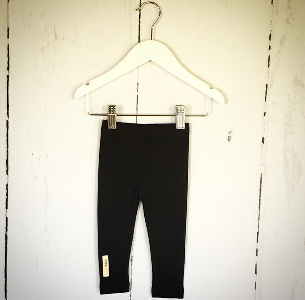 Black Basic Cotton Leggings