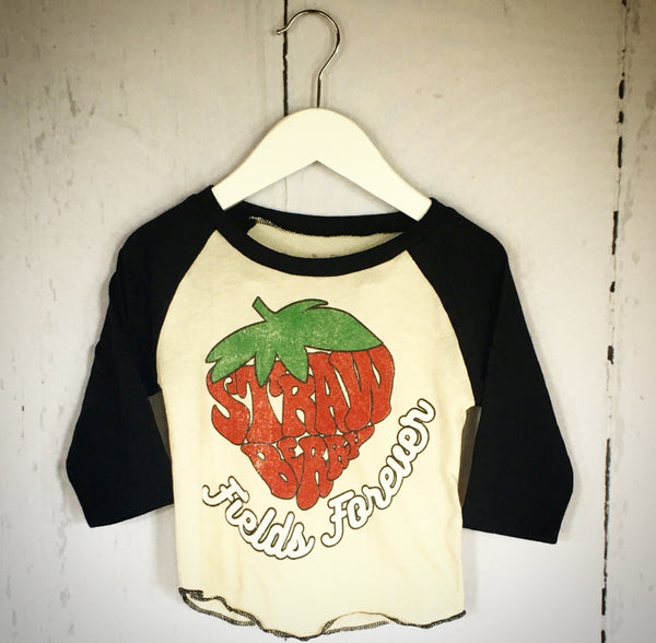 Strawberry Fields Forever Raglan Tee