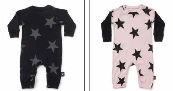 Black Star Playsuit - Double Sleeve (One Size Left - 18-24m)