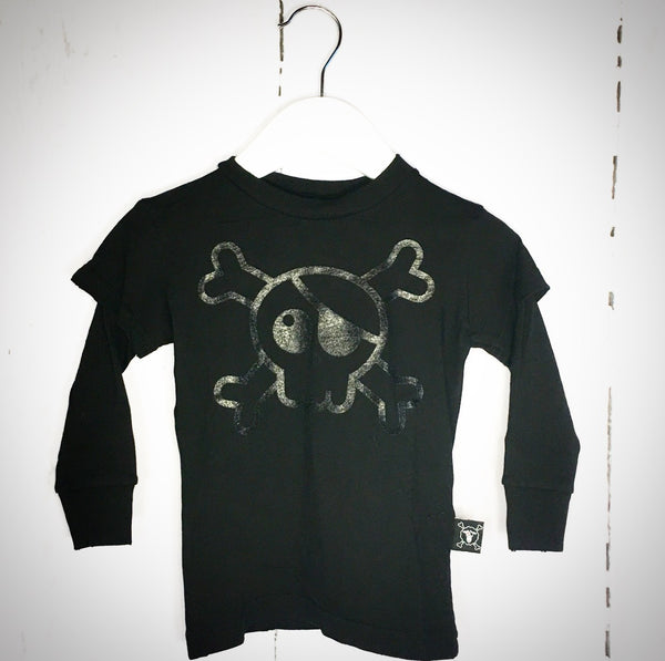 Skull T-shirt - Black One Size Left (18-24m)