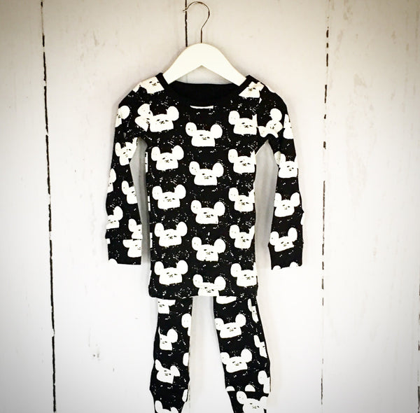 Mickey Mouse Inspired Two Piece -Black - One Size Left (2-3y)