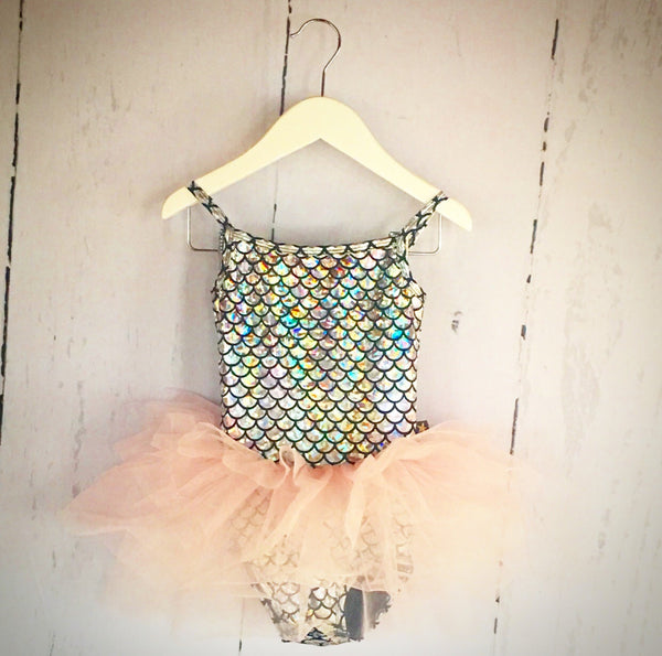 Silver Mermaid Tutu - (One Size Left, 6Y)