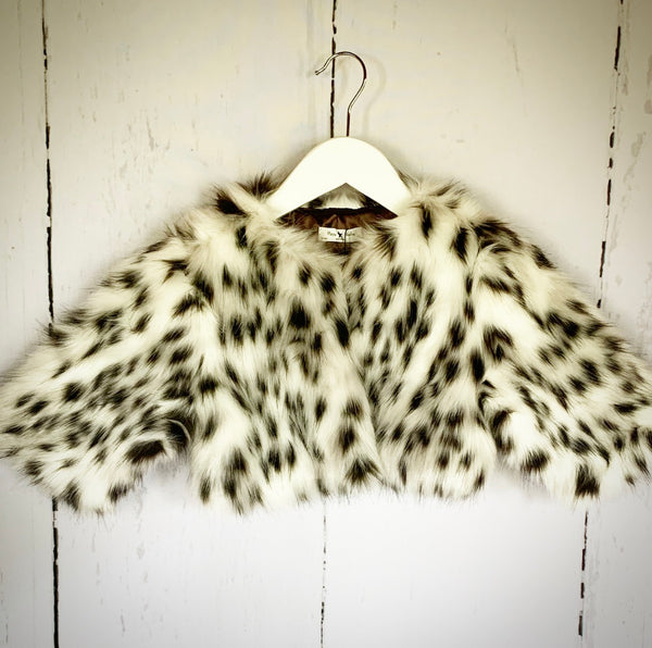 Faux Fur Snow Leopard Jacket
