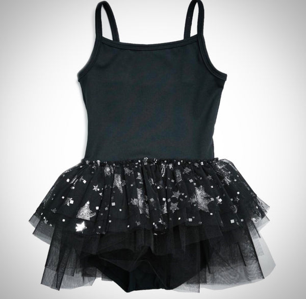 Grey Sparkle Star Tutu - (One Size Left, 6Y)