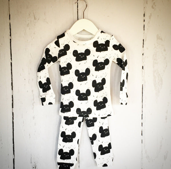 Mickey Mouse Inspired Two Piece - White