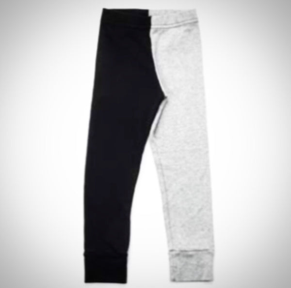 1/2 1/2 Leggings - Grey and Black