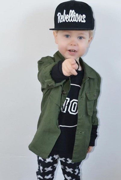 Rebellious NO Long Sleeve - One Size Left (4-6y)