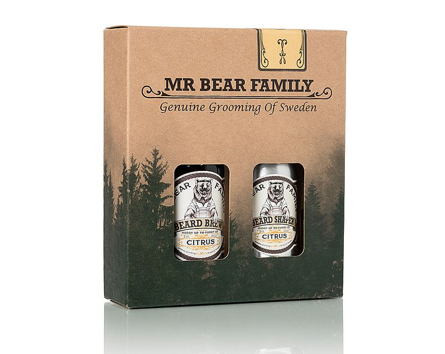 Mr. Bear Family - Beard Brew & Shaper - Citrus - Skeggolía og næring