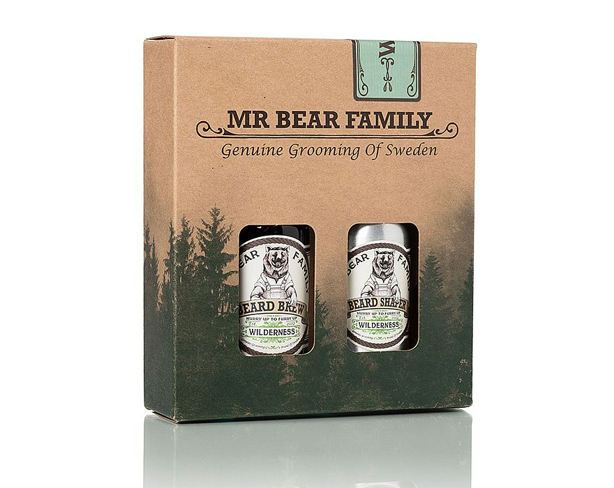 Mr. Bear Family - Beard Brew & Shaper - Wilderness - Skeggolía og næring