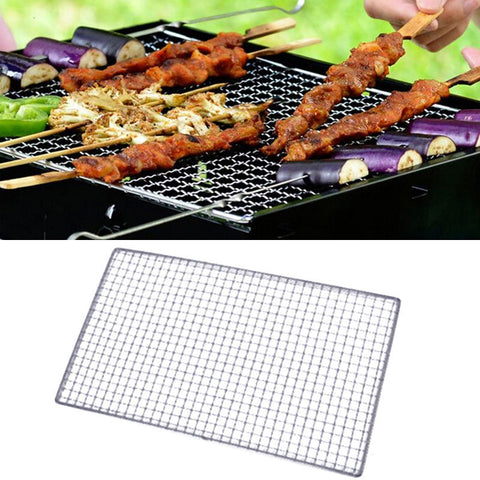 1Pcs 20*50cm Stainless Steel Wire Mesh Barbecue Grill Camping BBQ Grill Wire Net Replacement Your Old Damaged One Barbecue Tools