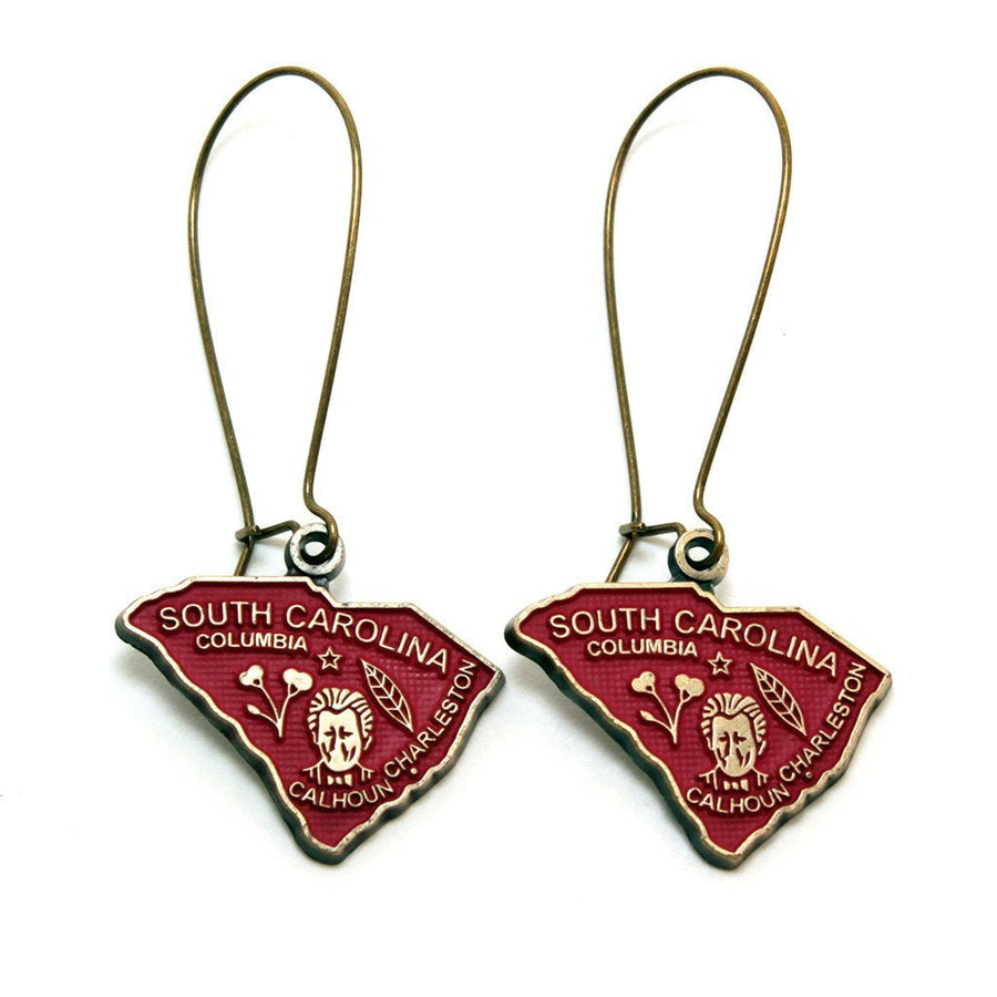 South Carolina State Love Earring