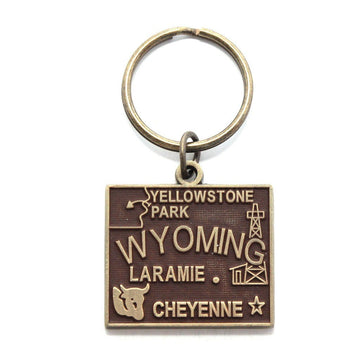 Wyoming Keychain