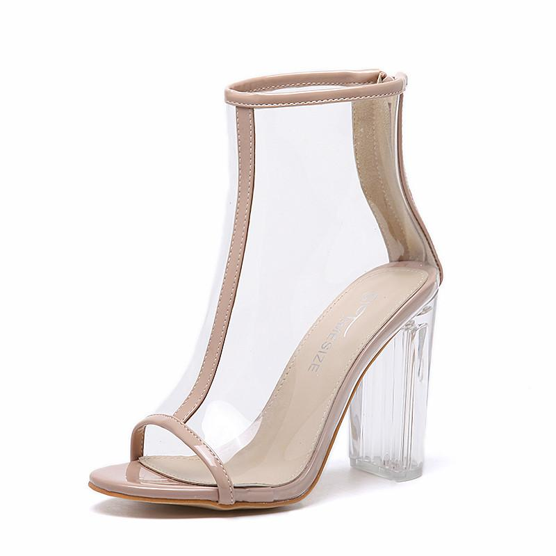 Peep Toe Lucite Pumps
