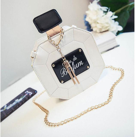 Fashion Leather Perfume Bottle Bag - NenaBella