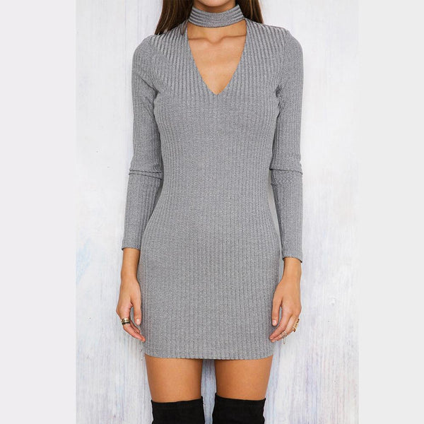 Long Sleeves Bodycon Dress