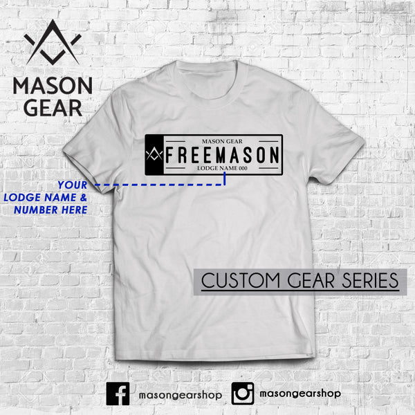 Custom Lodge & number- tshirt Plate Number design - Mason Gear Shop