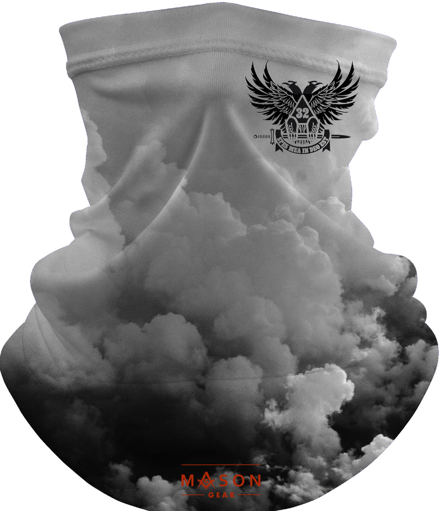 Scottish Rite wings up - B&W Gaiter Face cover