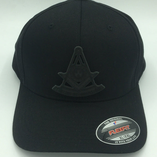 Monochromic Square & Quadrant PAST MASTER fitted caps - Mason Gear Shop