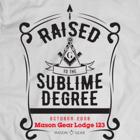 Custom TROWEL Raising & Lodge - tshirt - Mason Gear Shop