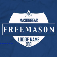 Custom Lodge & number- tshirt Crest design - Mason Gear Shop