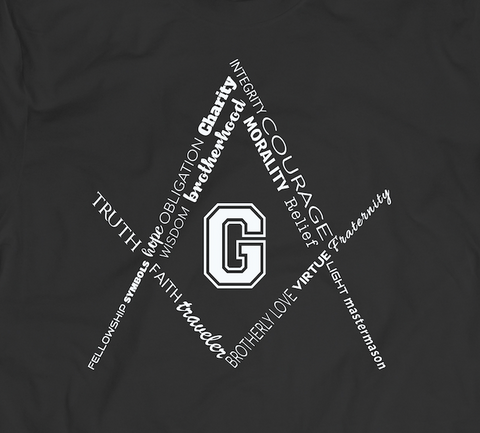 The Square and Compass - tshirt - Mason Gear Shop