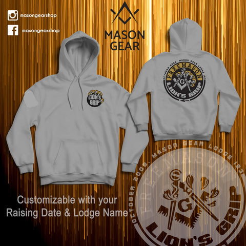LION'S GRIP hoodie 2.0 -  Print your Raising date & Lodge name