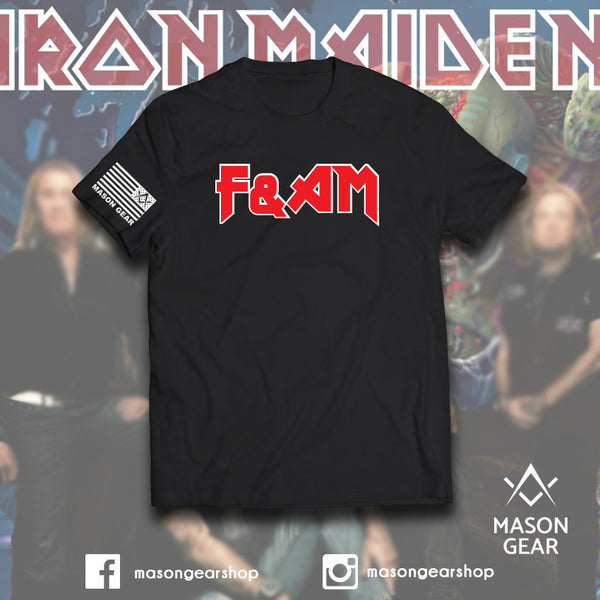 Iron Maiden F&AM Rock Star  - tshirt - Mason Gear Shop