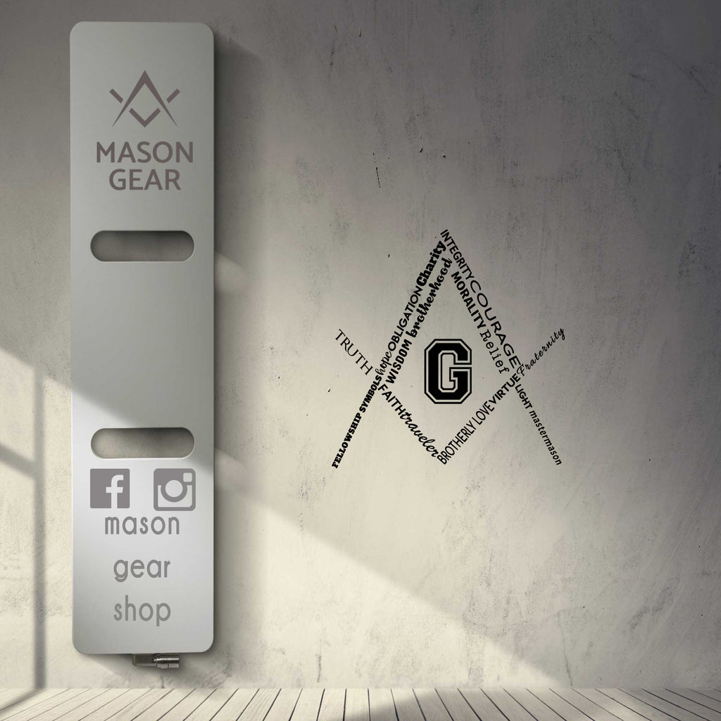 The Square and Compass - Auto and Wall Sticker - Mason Gear Shop