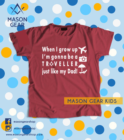 When I grow up Traveller - Youth tshirt