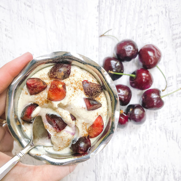 Creamy Cherry Cashew Yogurt