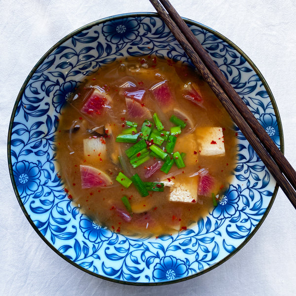 Vegan Doenjang Jjigae with Turnips
