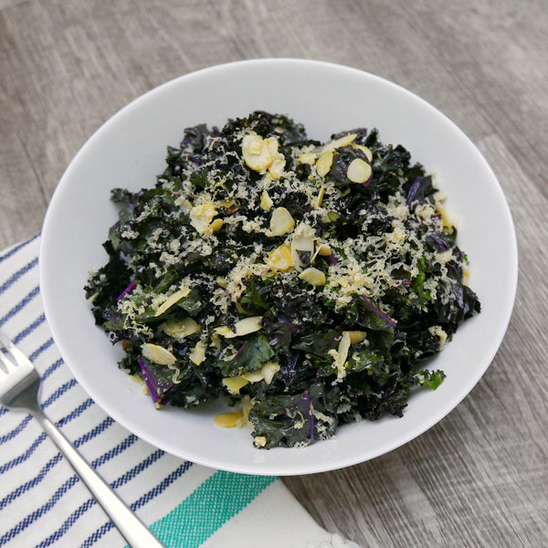 Purple Kale and Mustard Greens Jam Salad