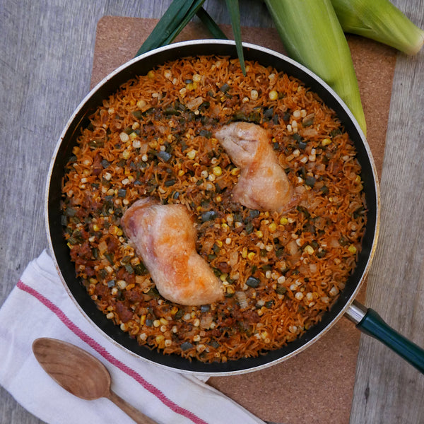 Upside-Down Mexican Paella