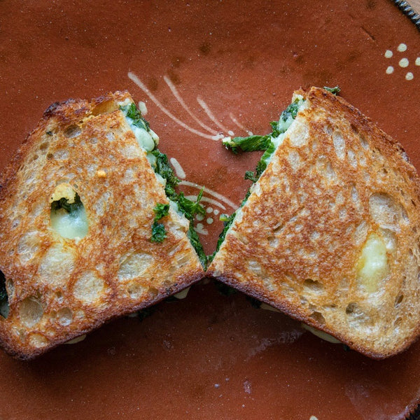 Spicy Mustard Greens & Spicy Mustard Greens Grilled Cheese