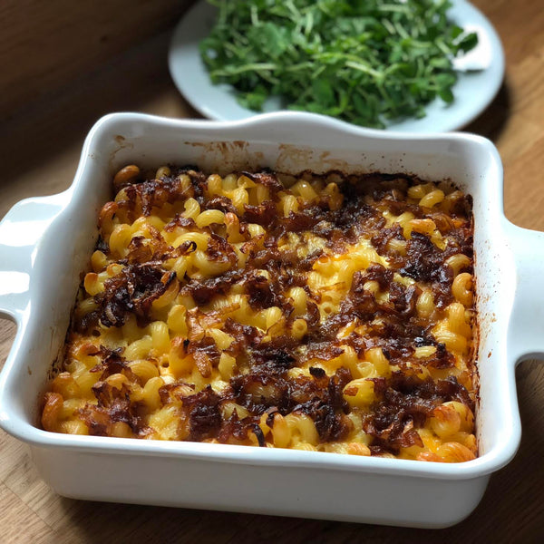 Mac and Cheese with Caramelized Shallots