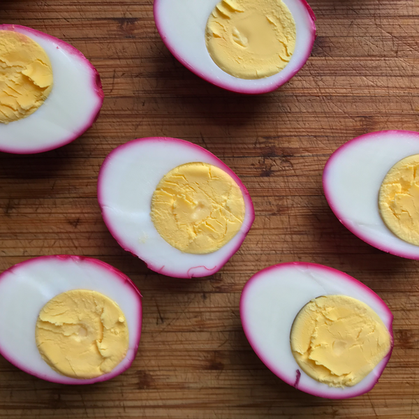 Beet-Brined Deviled Eggs