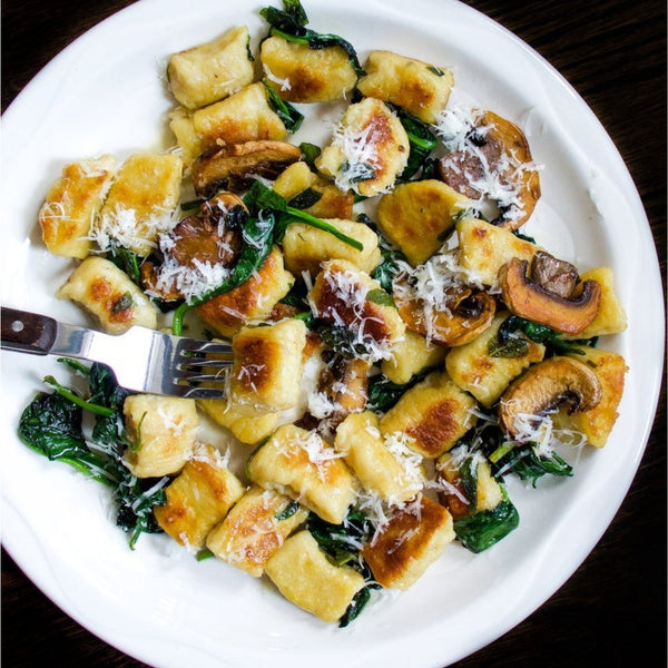 Easy Potato Gnocchi With Brown Butter Spinach