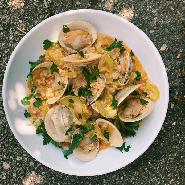 Summer Clams with Bossa Nova Squash