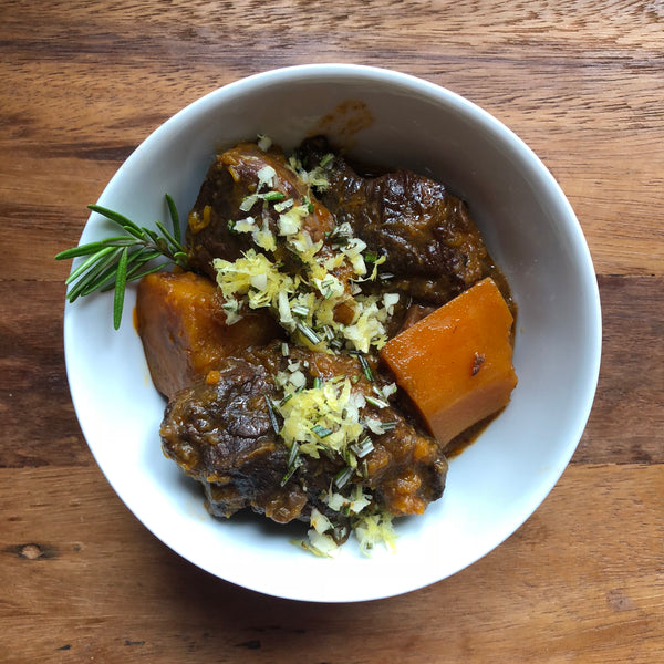 Beef and Honeynut Squash Stew with Gremolata