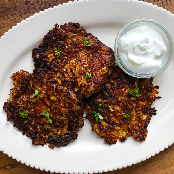 Gluten-Free Carrot and Cheddar Fritters