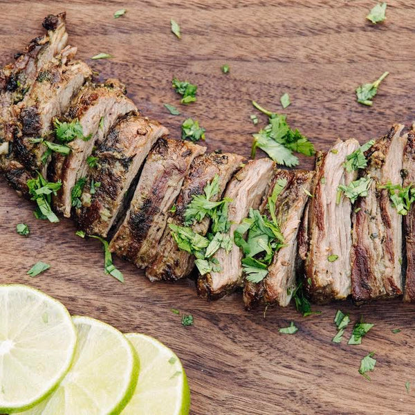 Grilled Simple Chimichurri Marinated Skirt Steak