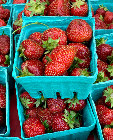Strawberries at pickup
