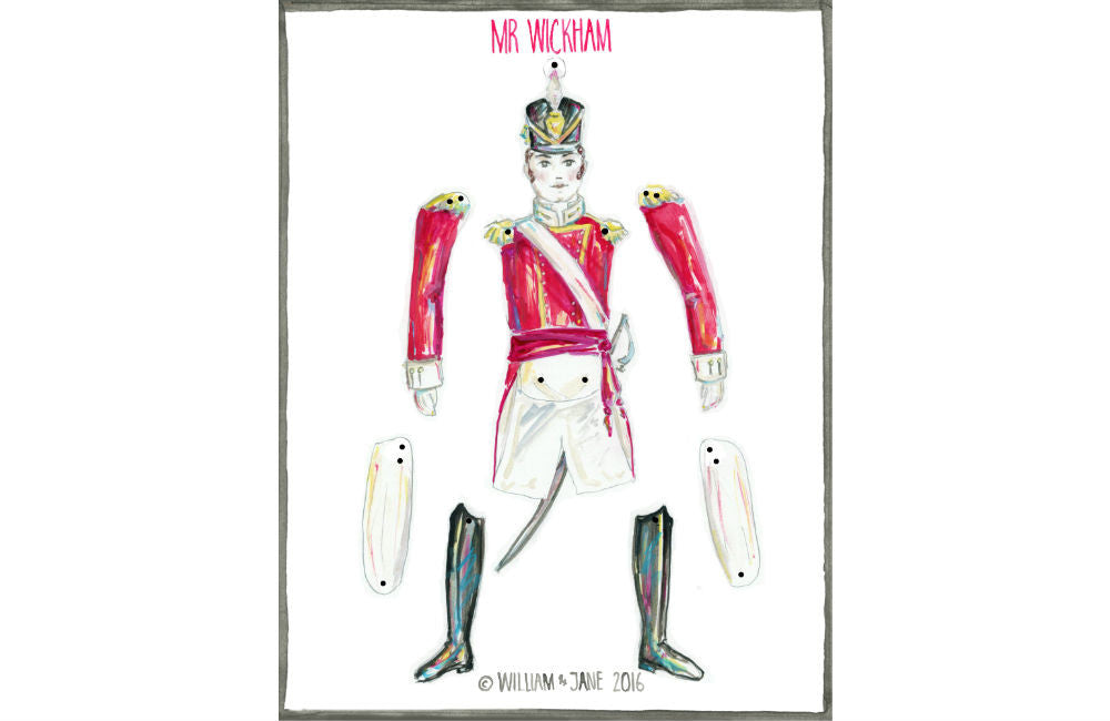 Mr Wickham Dancing Doll - Digital File – William & Jane