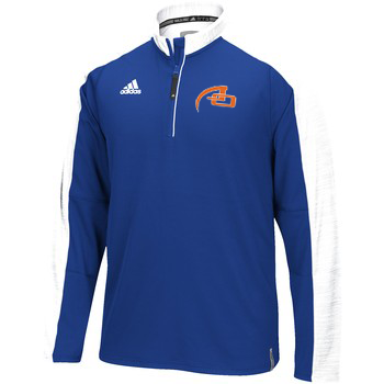 MEN'S ADIDAS CLIMALITE MODERN VARSITY LONG SLEEVE 1/4 ZIP (ROYAL/WHITE)