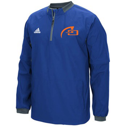 MEN'S ADIDAS FIELDERS CHOICE 1/4 ZIP CAGE JACKET - COLL RYL/ONIX