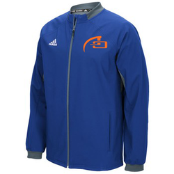 MEN'S ADIDAS CLIMATE FIELDERS CHOICE WARM-UP JACKET (FULL ZIP) - COLL RYL/ONIX