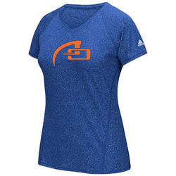 WOMEN'S ADIDAS SHORT SLEEVE CLIMALITE TEE - HEATHERED