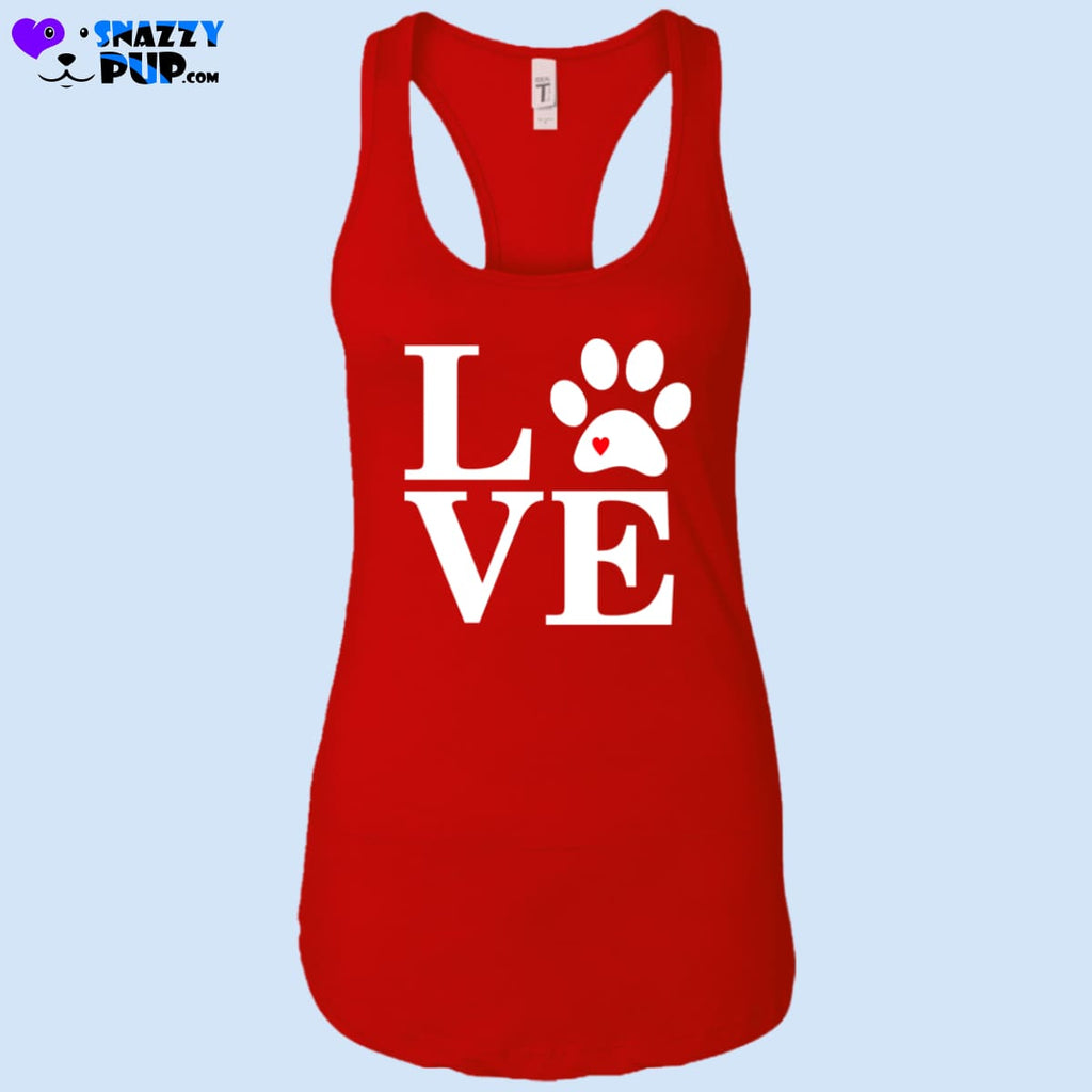 Dogs Are Love - Womens Tank Tops - T-Shirts