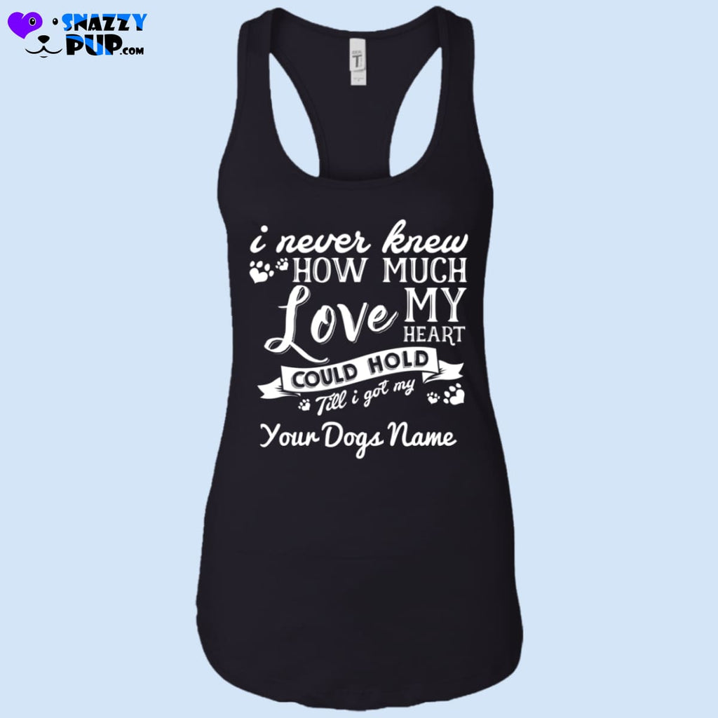 How Much Love...personalize With Your Dogs Name - T-Shirts