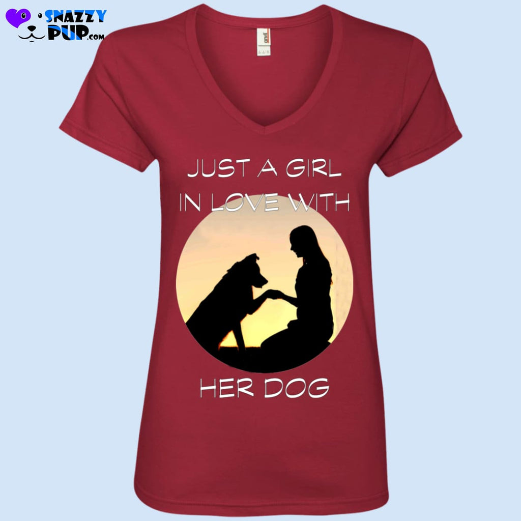 Just A Girl In Love With Her Dog - T-Shirts